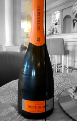 "BOTTLE OF QUALITY ITALIAN SPARKLING WINE ""PROSECCO EXTRA DRY DOCG"""